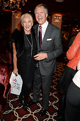 AMANDA ELIASCH and CHARLES DELEVINGNE at a party to celebrate the publication of 'Passion for Life' by Joan Collins held at No41 The Westbury Hotel, Mayfair, London on21st October 2013.