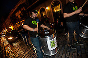 A drummer during the Festival of San Sebastian in San Juan, Puerto Rico.