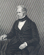 Henry John Temple, 3rd Viscount Palmerston (1784-1865) addressing Parliament.  Foreign Secretary 1830-1841; Prime Minister 1855-1857, 1858, 1858-1865.  Engraving.