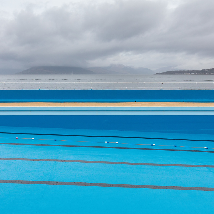 Gourock Outdoor Pool, Inverclyde, Scotland.
