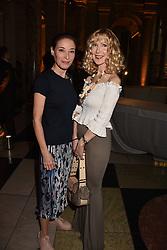 Left to right, Hannah Jenkins and Basia Briggs at the Balenciaga Shaping Fashion VIP Preview, The V&A Museum, London England. 24 May 2017.<br /> Photo by Dominic O'Neill/SilverHub 0203 174 1069 sales@silverhubmedia.com