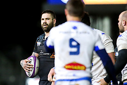 Cornell du Preez of Worcester Warriors looks on at Rory Kockott of Castres Olympique - Mandatory by-line: Robbie Stephenson/JMP - 17/01/2020 - RUGBY - Sixways Stadium - Worcester, England - Worcester Warriors v Castres Olympique - European Rugby Challenge Cup