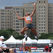 Whitney Gipston, USA, in action during the Women's long Jump competiton during the Diamond League Adidas Grand Prix at Icahn Stadium, Randall's Island, Manhattan, New York, USA. 13th June 2015. Photo Tim Clayton