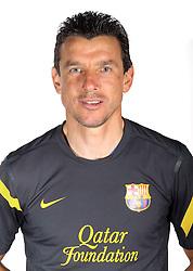24.08.2011, Barcelona, ESP, FC Barcelona Fotocall, im Bild Portrait von Goalkeepers coach Juan Carlos Unzue, EXPA Pictures © 2011, PhotoCredit: EXPA/ Alterphotos/ ALFAQUI/ Gregorio