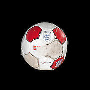 Old red and white football