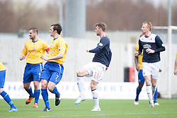 Falkirk's Rory Loy scoring their first goal.<br /> Falkirk 5 v 0 Cowdenbeath, Scottish Championship game played today at The Falkirk Stadium.<br /> © Michael Schofield.