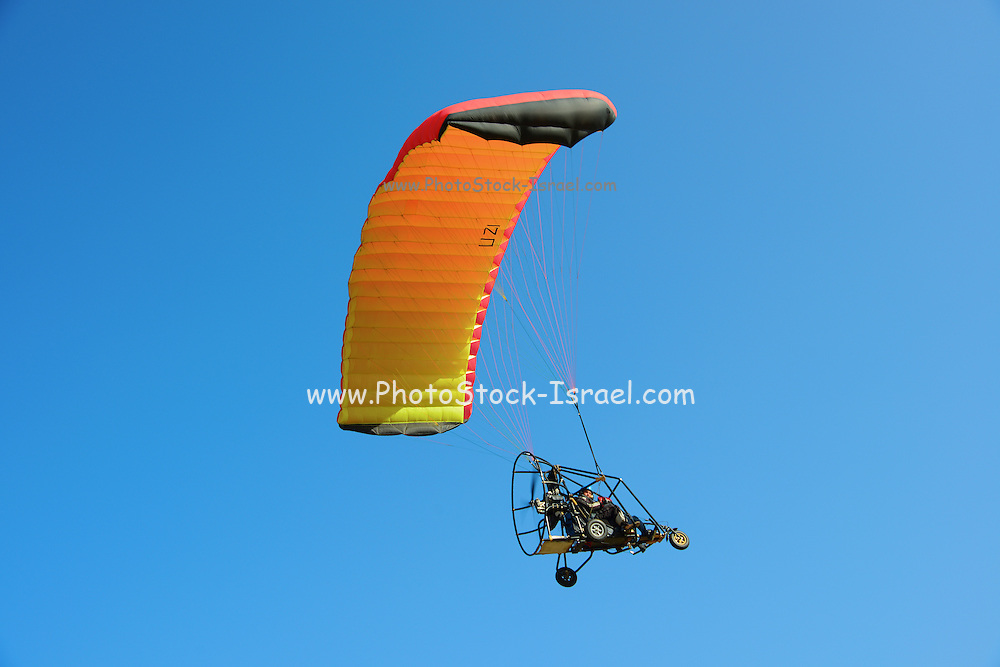 Motor Paragliding in flight Photographed in Israel, Coastal Plains