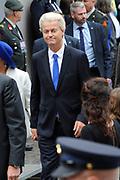 Prinsjesdag 2014 - Aankomst Politici op het Binnenhof.<br /> <br /> Op de foto:  PVV-fractievoorzitter Geert Wilders