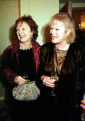 Left to right, writer LADY RACHEL BILLINGTON and her sister LADY ANTONIA PINTER, at a reception in London on 3rd February 2000.OAS 34