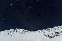 07.11.2008.Alpine landscape at night with clear sky and moonlight..Gran Paradiso National Park, Italy