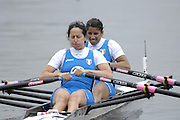 Poznan, POLAND,  ITA W2X, Bow, Laura SCHIAVONE and Elisabetta SANCASSANI, move away from the start in their morning heat, at the 2008 FISA World Cup. Rowing Regatta. Malta Rowing Course on Friday, 20/06/2008. [Mandatory Credit:  Peter SPURRIER / Intersport Images] Rowing Course:Malta Rowing Course, Poznan, POLAND