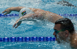 October 4, 2018 - Budapest, Hungary - Le Clos Chad of  South Africa competes in the Mens 100m Butterfly on day one of the FINA Swimming World Cup held at Duna Arena Swimming Stadium on Okt 04, 2018 in Budapest, Hungary. (Credit Image: © Robert Szaniszlo/NurPhoto/ZUMA Press)