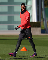 Marcus Rashford of Manchester United  - Mandatory by-line: Matt McNulty/JMP - 19/10/2016 - FOOTBALL - Manchester United - Training session ahead of Europa League game against Fenerbahce