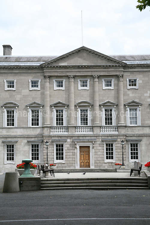 Dail Eireann Irish Government buildings on Kildare Street in Dublin