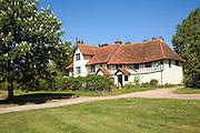 Half timbered old farmhouse, Newton, Suffolk, England