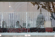 Reflection of St. Paul's Cathedral in the City of London