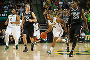 WACO, TX - DECEMBER 9: Lester Medford #11 of the Baylor Bears drives to the basket against the Texas A&M Aggies on December 9, 2014 at the Ferrell Center in Waco, Texas.  (Photo by Cooper Neill/Getty Images) *** Local Caption *** Lester Medford