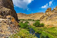 Melik Tangi Bridge on Vorotan river  landmark of Syunik province Armenia eastern Europe