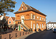 The Shire Hall and Corn Exchange building, Market Hill, Woodbridge, Suffolk, England, UK c 1575