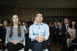 """© Licensed to London News Pictures . 10/11/2016 . Manchester , UK . Labour Party candidate ANDY BURNHAM delivers a speech and hosts a Q&A at the launch of the party's campaign for the Greater Manchester Mayoralty , at the """" HOME """" arts venue on Tony Wilson Place , First Street , Manchester . Photo credit : Joel Goodman/LNP"""