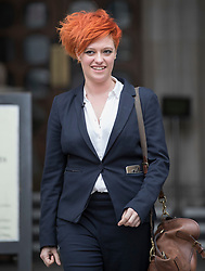 © Licensed to London News Pictures. 10/3/2017. London, UK. Food blogger Jack Monroe leaves the High Court.  Jack Monroe has won £24,000 in her claim for libel damages after 'serious harm' was caused over tweets from the Daily Mail columnist Katie Hopkins - who also has to pay £24,000 in costs. Photo credit: Peter Macdiarmid/LNP
