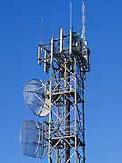 GSM and CDMA cellsite antenna array for the cellular telephone system on a tower - Port Douglas, Australia <br />