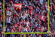 Fans watch as an extra point is kicked during a NFL game between the San Francisco 49ers and the New York Giants at Levi's Stadium in Santa Clara, Calif., on November 12, 2017. (Stan Olszewski/Special to S.F. Examiner)