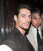 DAVID GANDY; GEORGE LAMB, Dinner to celebrate the opening of the first Berluti lifestyle store hosted by Antoine Arnault and Marigay Mckee. Harrods. London. 5 September 2012.