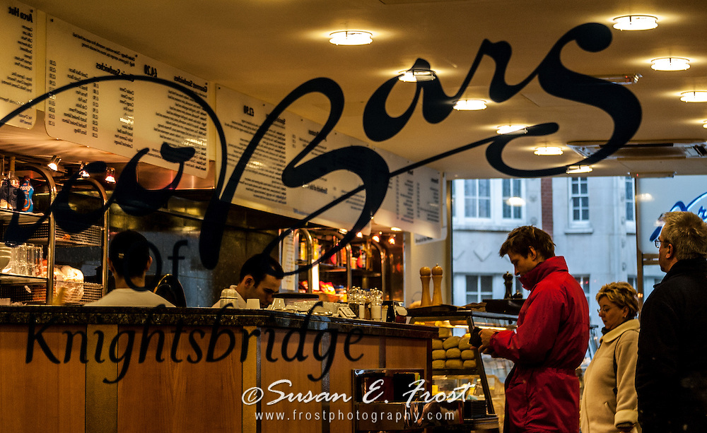 Knightsbridge Cafe and bar, London, England