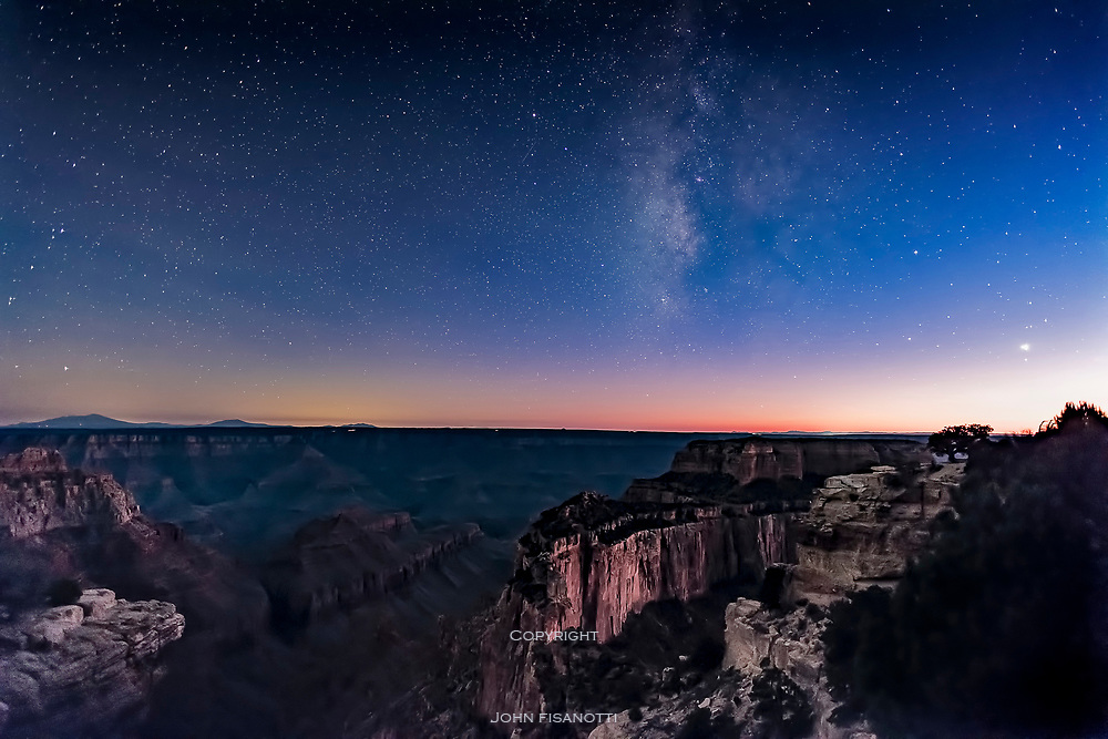 Milky Way over the Grand Canyon at Twilight