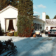 Nieuwe woning Willeke Alberti Tafelbergweg 29 Laren in de sneeuw