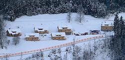 12.12.2012, Schladming, AUT, FIS Weltmeisterschaften Ski Alpin, Schladming 2013, Vorberichte, im Bild das neu errichtete Hüttendorf Schladming am 12.12.2012 // new hut-village Schladming on 2012/12/12, preview to the FIS Alpine World Ski Championships 2013 at Schladming, Austria on 2012/12/12. EXPA Pictures © 2012, PhotoCredit: EXPA/ Martin Huber