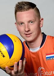 09-05-2014 NED: Selectie Nederlands zitvolleybal team mannen, Leersum<br /> In sporthal De Binder te Leersum werd het Nederlands team zitvolleybal seizoen 2014-2015 gepresenteerd /