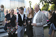 Kitty Logsdail, Alex Logsdail, Phyllis Keil and Nicholas Logsdail. The Summer Party sponsored by Yves St. Laurent. Serpentine Gallery. 11 July 2006. . ONE TIME USE ONLY - DO NOT ARCHIVE  © Copyright Photograph by Dafydd Jones 66 Stockwell Park Rd. London SW9 0DA Tel 020 7733 0108 www.dafjones.com