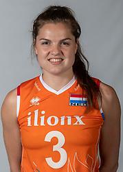10-05-2018 NED: Team shoot Dutch volleyball team women, Arnhem<br /> Yvon Belien #3 of Netherlands