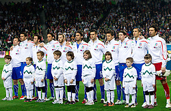 Players of Italy during EURO 2012 Quaifications game between National teams of Slovenia and Italy, on March 25, 2011, SRC Stozice, Ljubljana, Slovenia. Italy defeated Slovenia 1-0.  (Photo by Vid Ponikvar / Sportida)