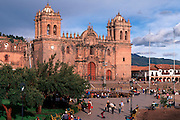 PERU, HIGHLANDS, CUZCO The Plaza de Armas, heart of the old city; with the Cathedral, started in 1559, now a museum of colonial art