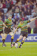 Twickenham, Surrey. England, UK.,02.05.2003, Saints Paul GRAYSON,,,  Zurich Premiership Rugby match, Harlequins v Northampton Saints, played at the Stoop Memorial Ground, [Mandatory Credit:Peter Spurrier/ Intersport Images]