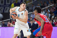 Real Madrid Jonas Maciulis and CSKA Moscu Will Clyburn during Turkish Airlines Euroleague match between Real Madrid and CSKA Moscu at Wizink Center in Madrid, Spain. October 19, 2017. (ALTERPHOTOS/Borja B.Hojas)