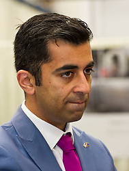 Pictured: Humza Yousaf MSP <br /> Transport minister Humza Yousaf MSP headed to Broxburn today to view a mock-up of the lay-out of the new Caledonian Sleeper cars which will come into service in 2018. He met executives of Caledonian Sleeper and was shown round the carraige by Managing Director Peter Strachan<br /> <br /> (c) Ger Harley   Edinburgh Elite media