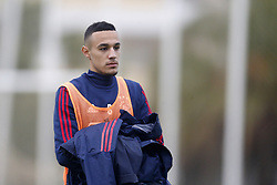 Noussair Mazraoui of Ajax during a training session of Ajax Amsterdam at the Cascada Resort on January 09, 2018 in Lagos, Portugal