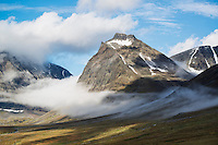 1662 meter Tolpagorni - Duolbagorni rises above Ladtjovagge viewed from near Kebnekaise Fjällstation, Lappland, Sweden