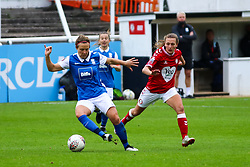 Charlie Wellings of Bristol City Women presses the ball- Mandatory by-line: Will Cooper/JMP - 18/10/2020 - FOOTBALL - Twerton Park - Bath, England - Bristol City Women v Birmingham City Women - Barclays FA Women's Super League