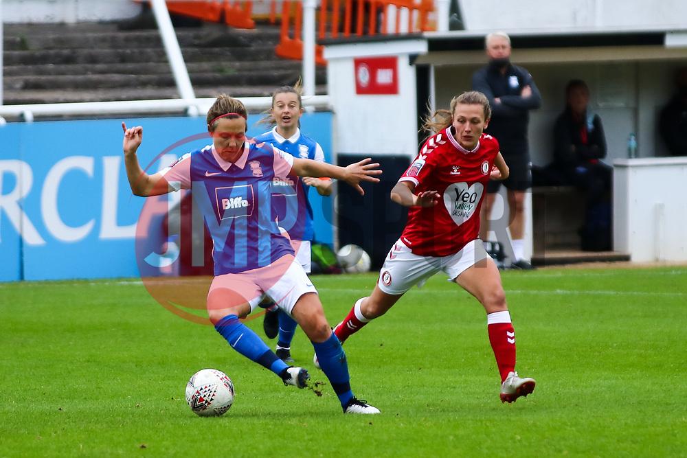 Charlie Wellings of Bristol City Women presses the ball- Mandatory by-line: Will Cooper/JMP - 18/10/2020 - FOOTBALL - Twerton Park - Bath, England - Bristol City Women v Birmingham City Women - Barclays FA Women's Super League