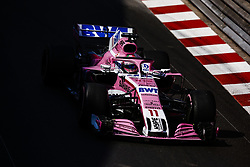 May 24, 2018 - Montecarlo, Monaco - 11 Sergio Perez from Mexico with Force India F1 VJM11 during the Monaco Formula One Grand Prix  at Monaco on 24th of May, 2018 in Montecarlo, Monaco. (Credit Image: © Xavier Bonilla/NurPhoto via ZUMA Press)