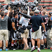 9/24/11 --- SPORTS SHOOTER ACADEMY VIII --- SANTA ANA, CA: Sports Shooter Academy participants get into the thick of the action before the kick off of the Santa Ana College - Palomar College football game. Photo by Joe Lorenzini, Sports Shooter Academy Behind the Scenes with the cast and crew of Sports Shooter Academy.