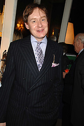 NICK FOULKES at a party to celebrate the publication of Top Tips For Girls by Kate Reardon held at Claridge's, Brook Street, London on 28th January 2008.<br />