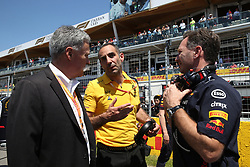 June 9, 2019 - Montreal, Canada - xa9; Photo4 / LaPresse.09/06/2019 Montreal, Canada.Sport .Grand Prix Formula One Canada 2019.In the pic: Chase Carey (USA) Formula One Group Chairman, Cyril Abiteboul (FRA) Renault Sport F1 Managing Director and Christian Horner (GBR), Red Bull Racing, Sporting Director (Credit Image: © Photo4/Lapresse via ZUMA Press)