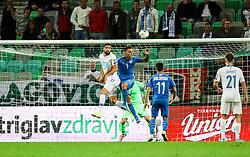 Miha Mevlja of Slovenia vs Eran Zahavi of Israel during the 2020 UEFA European Championships group G qualifying match between Slovenia and Israel at SRC Stozice on September 9, 2019 in Ljubljana, Slovenia. Photo by Matic Klansek Velej / Sportida