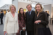 HILARY WESTON; BETTINA VON HASE; SIMON DE PURY; MICHAELA DE PURY, VIP Opening of Frieze Masters. Regents Park, London. 9 October 2012